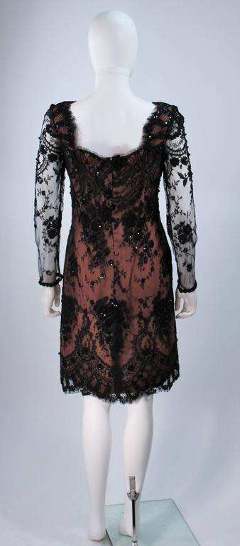 FE ZANDI Black Lace Embellished Cocktail Dress Size 8 For Sale 4