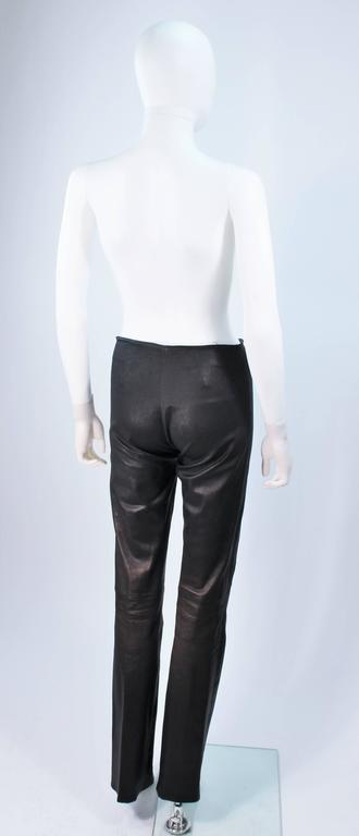 CHROME HEARTS Black Stretch Leather Boot Cut Pants Size 4 9