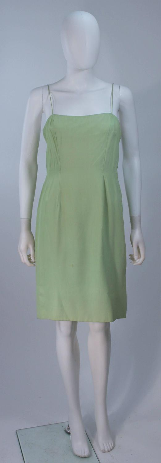 vintage 1960 s mint green dress with beading and