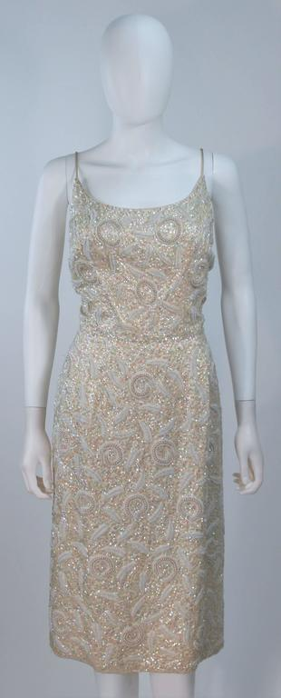 Imperial House Silk Off White Iridescent Sequined Cocktail