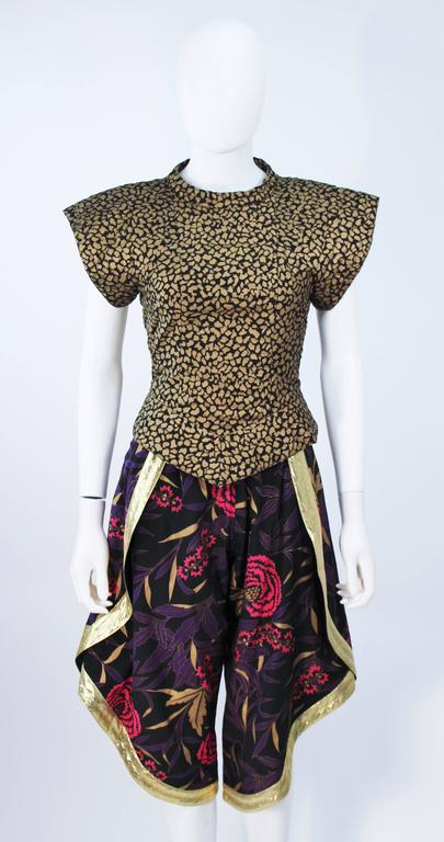 KOSHINO HIROKO  Three Piece Printed Ensemble Size 2 In Excellent Condition For Sale In Los Angeles, CA