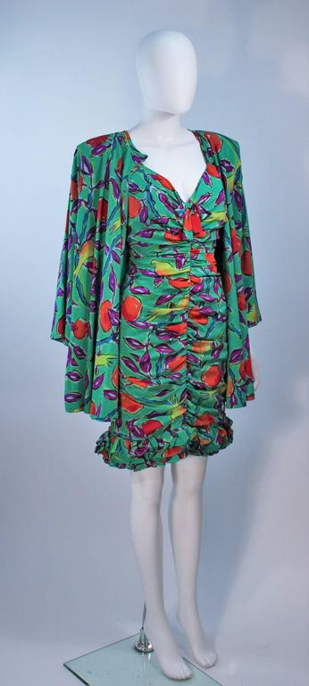 EMANUEL UNGARO Silk Cocktail Dress with Coat Size 8 For Sale 1