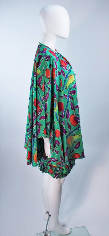 EMANUEL UNGARO Silk Cocktail Dress with Coat Size 8 For Sale 2