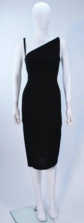 john galliano black asymmetrical cocktail dress size 6 for. Black Bedroom Furniture Sets. Home Design Ideas