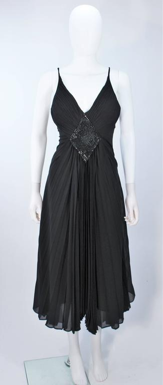 PACO RABANNE Black Silk Jerset Dress with Rhinestone Detail Size 42 2