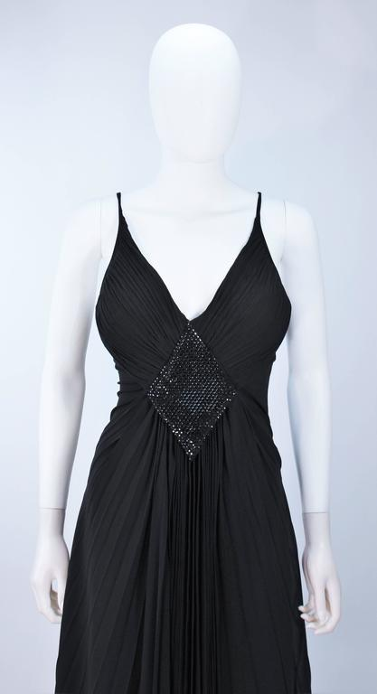 PACO RABANNE Black Silk Jerset Dress with Rhinestone Detail Size 42 3