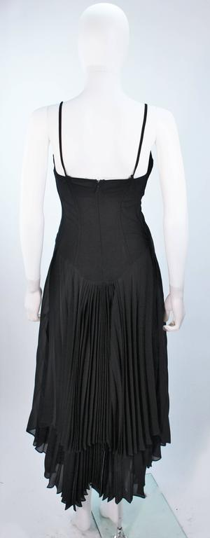 PACO RABANNE Black Silk Jerset Dress with Rhinestone Detail Size 42 8