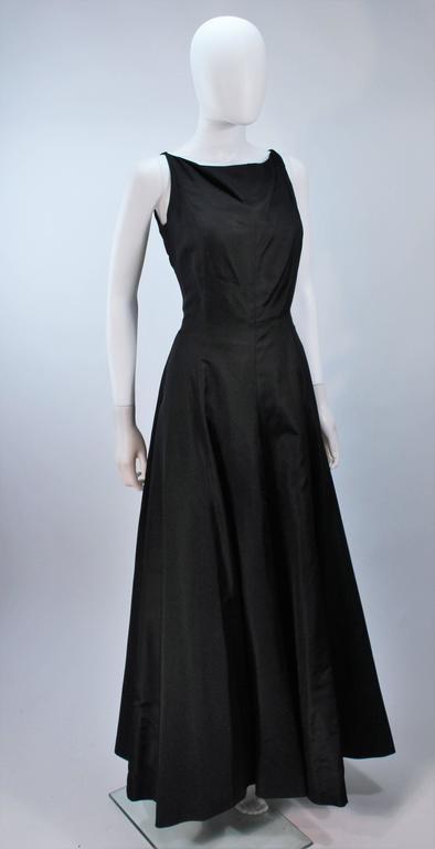 OSCAR DE LA RENTA Black Satin Gown and Embellished Jacket Ensemble Size 8 6