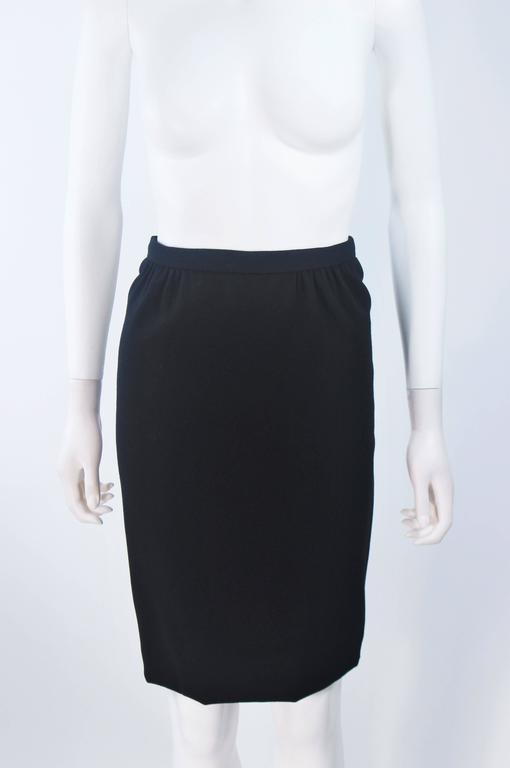 BOB MACKIE Black Skirt Suit Ensemble with Sheer Embellished Accents Size 4-6 For Sale 5