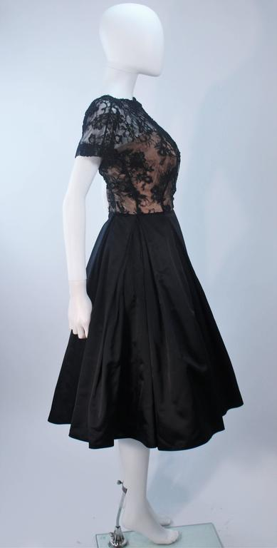 Vintage 1950's Custom Lace Cocktail Dress Size 2-4 For Sale 2