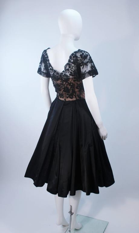 Vintage 1950's Custom Lace Cocktail Dress Size 2-4 For Sale 4