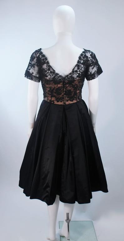 Vintage 1950's Custom Lace Cocktail Dress Size 2-4 For Sale 5