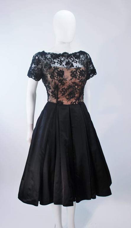 Vintage 1950's Custom Lace Cocktail Dress Size 2-4 For Sale 1