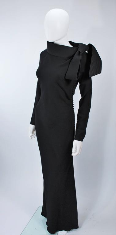 JOHN GALLIANO For CHRISTIAN DIOR Black Gown with Collar Detail Size 38 6 3