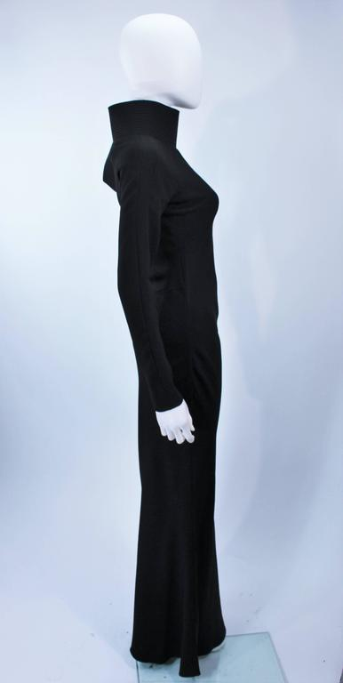 JOHN GALLIANO For CHRISTIAN DIOR Black Gown with Collar Detail Size 38 6 7