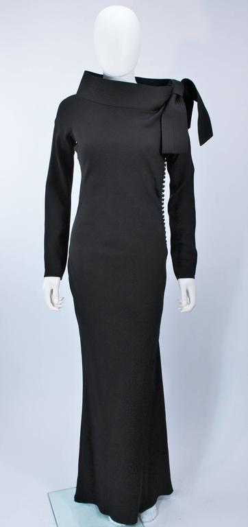 JOHN GALLIANO For CHRISTIAN DIOR Black Gown with Collar Detail Size 38 6 2