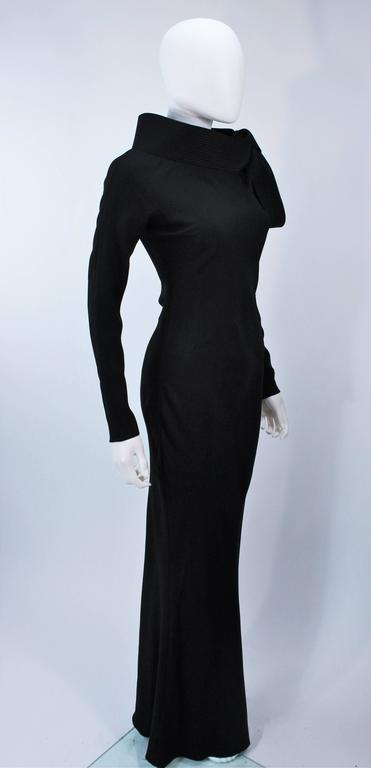JOHN GALLIANO For CHRISTIAN DIOR Black Gown with Collar Detail Size 38 6 6