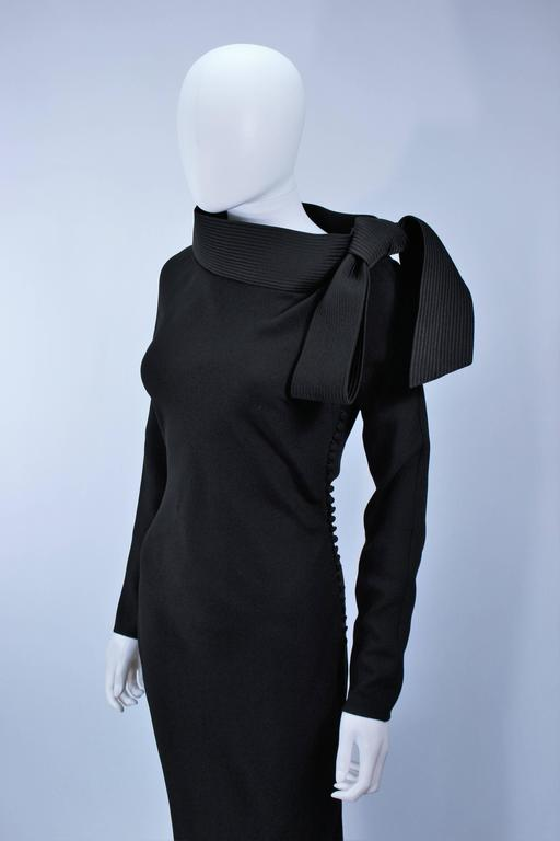 JOHN GALLIANO For CHRISTIAN DIOR Black Gown with Collar Detail Size 38 6 5