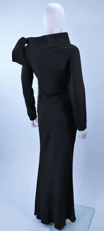 JOHN GALLIANO For CHRISTIAN DIOR Black Gown with Collar Detail Size 38 6 8