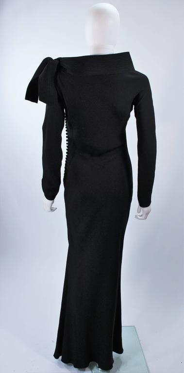JOHN GALLIANO For CHRISTIAN DIOR Black Gown with Collar Detail Size 38 6 9
