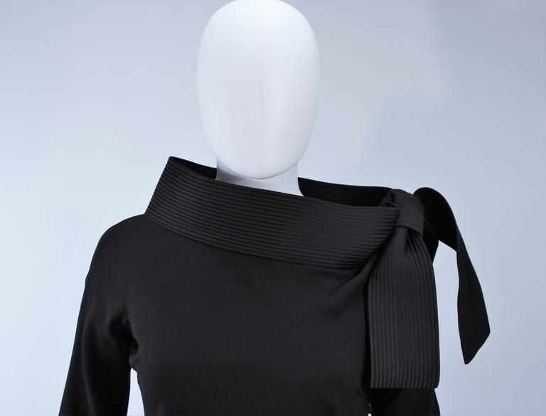 JOHN GALLIANO For CHRISTIAN DIOR Black Gown with Collar Detail Size 38 6 4