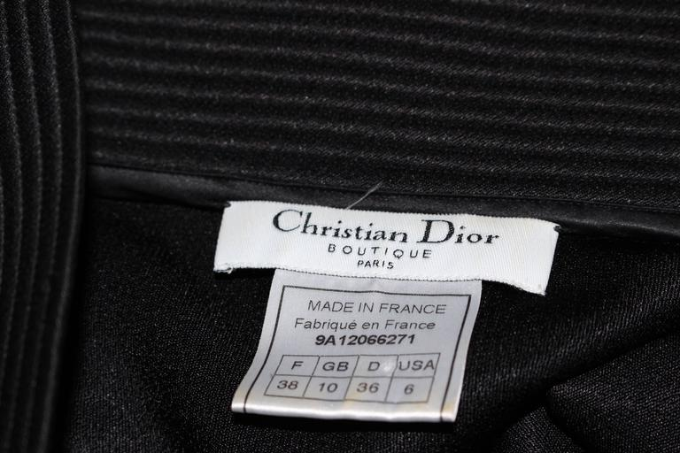 JOHN GALLIANO For CHRISTIAN DIOR Black Gown with Collar Detail Size 38 6 10