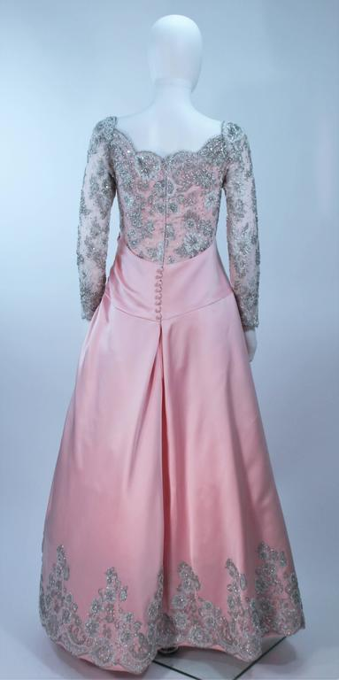 BOB MACKIE Pink Silk & Lace Embellished Ball Gown Size 12 8
