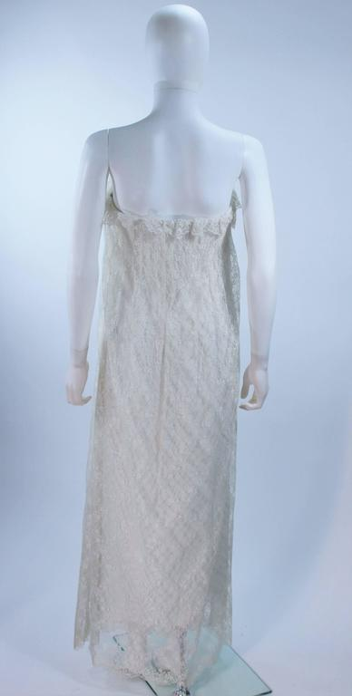 BILL BLASS White Lace Strapless Dress Size 6 7