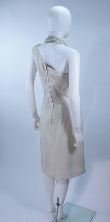 SYDNEY NORTH White Rhinestone Embellished Asymmetrical Cocktail Dress Size 6-8  For Sale 3