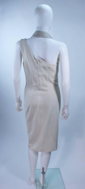 SYDNEY NORTH White Rhinestone Embellished Asymmetrical Cocktail Dress Size 6-8  For Sale 4