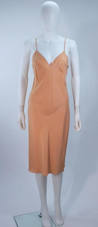 MONIQUE LHUILLIER Asian Inspired Deep Coral Knit lace Cocktail Dress Size 8 For Sale 4