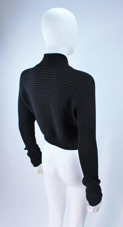 ALAIA Black Stretch Cropped Sweater Size S 7