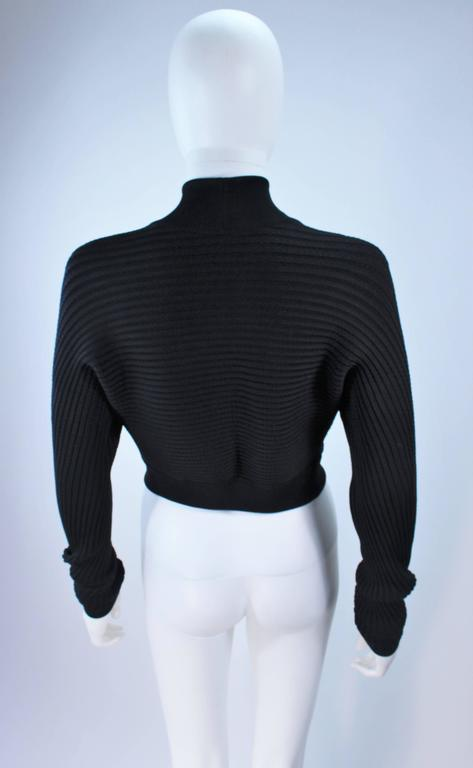 ALAIA Black Stretch Cropped Sweater Size S For Sale 4