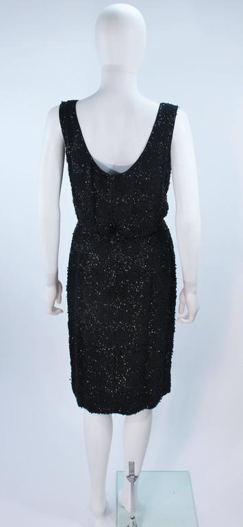 1960's Black Silk Chiffon Beaded Cocktail Dress Size 4 For Sale 4
