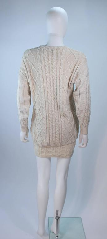 Gianni Versace Cable Knit Set With Pencil Skirt Size 40 42