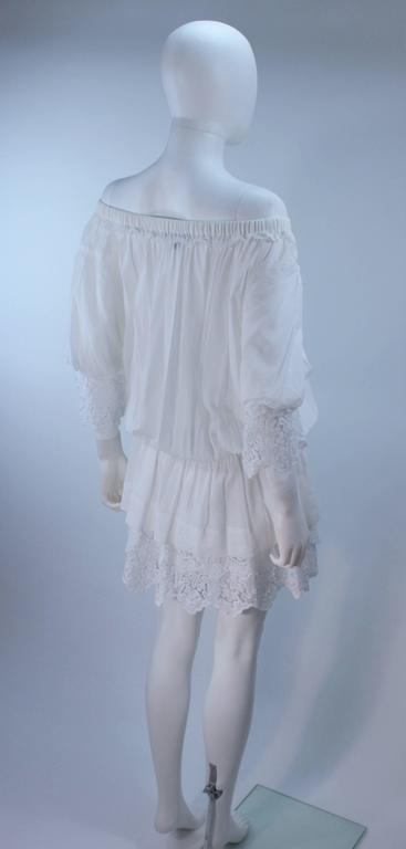 DOLCE AND GABBANA White Tunic with Lace Trim Size 2  8