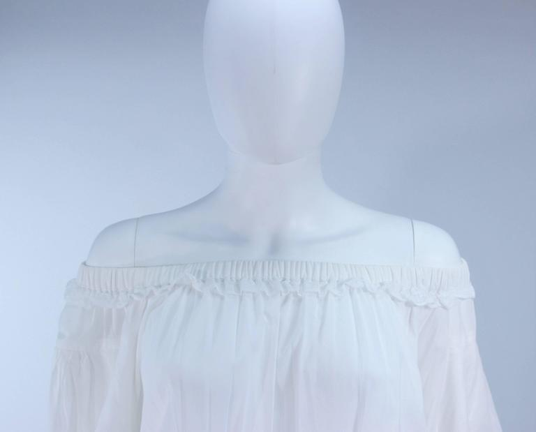 DOLCE AND GABBANA White Tunic with Lace Trim Size 2  4