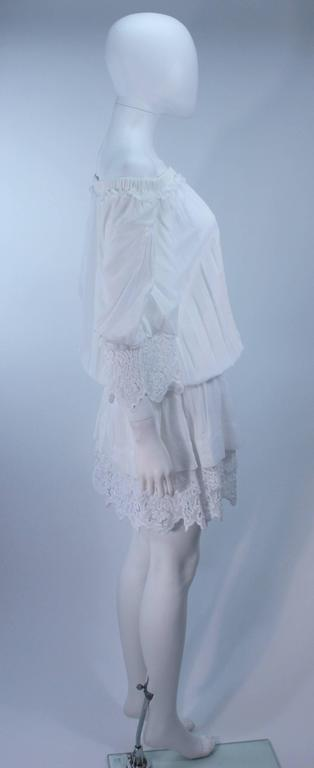 DOLCE AND GABBANA White Tunic with Lace Trim Size 2  7