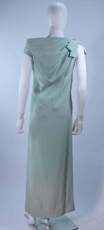 CHRISTIAN DIOR HAUTE COUTURE Aqua Draped Gown Size 0 2 For Sale 3