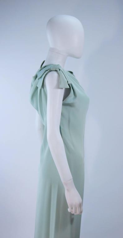 CHRISTIAN DIOR HAUTE COUTURE Aqua Draped Gown Size 0 2 For Sale 1