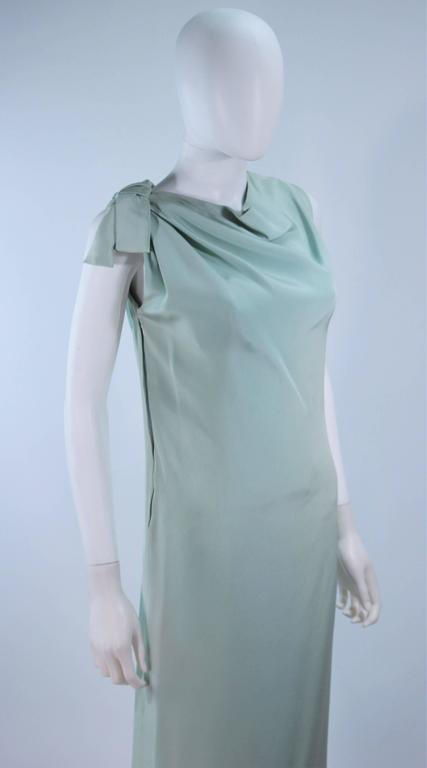 Women's CHRISTIAN DIOR HAUTE COUTURE Aqua Draped Gown Size 0 2 For Sale