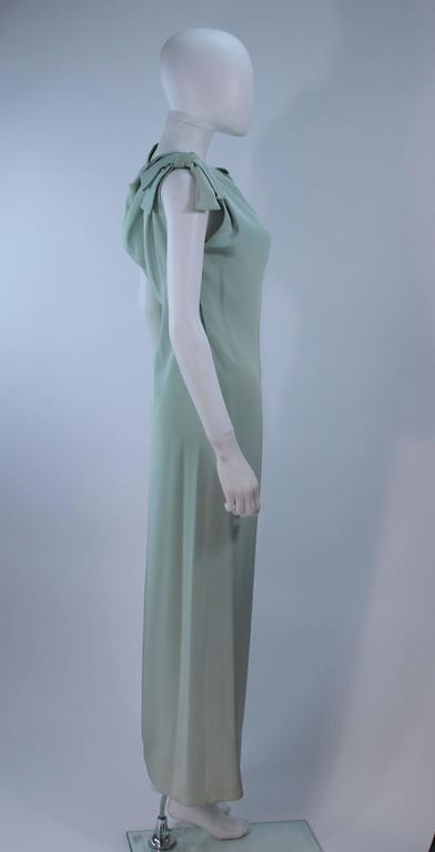 CHRISTIAN DIOR HAUTE COUTURE Aqua Draped Gown Size 0 2 For Sale 2