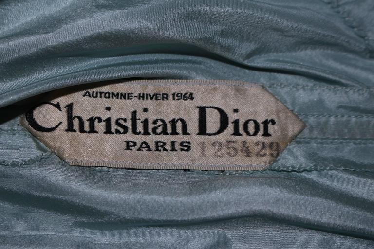 CHRISTIAN DIOR HAUTE COUTURE Aqua Draped Gown Size 0 2 For Sale 5