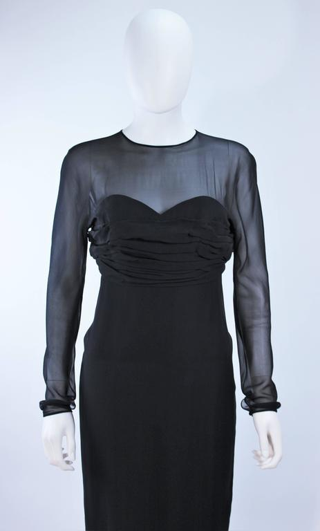 Christian Dior Haute Couture Betsy Bloomingdale S Black Silk Chiffon