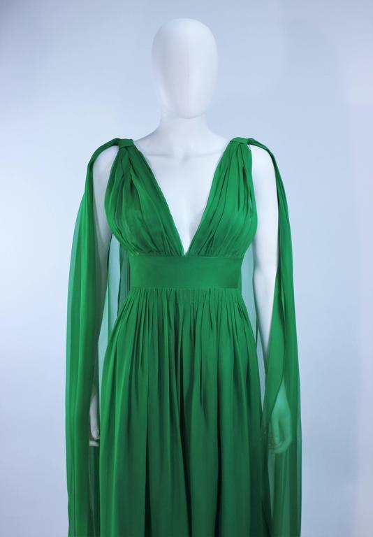 Green Chiffon Cocktail Dress