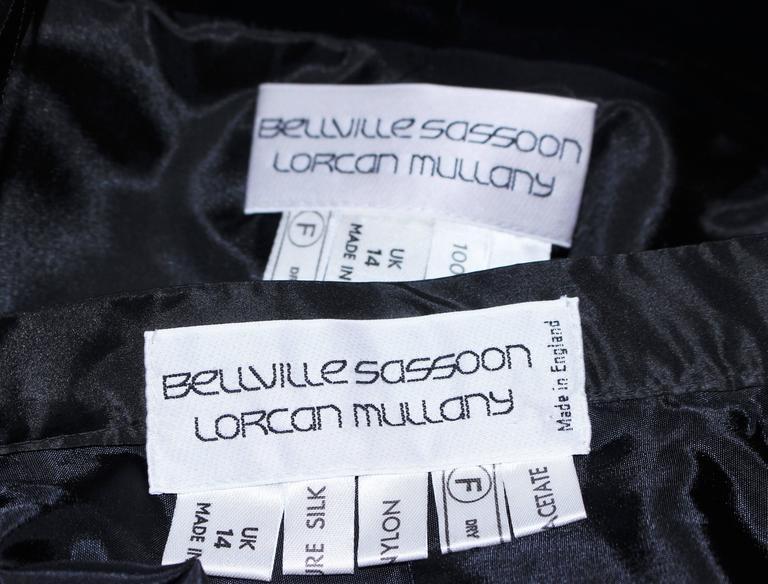 BELVILLE SASSON Velvet Skirt Evening Ensemble Off Shoulder Scallop Size 10 10