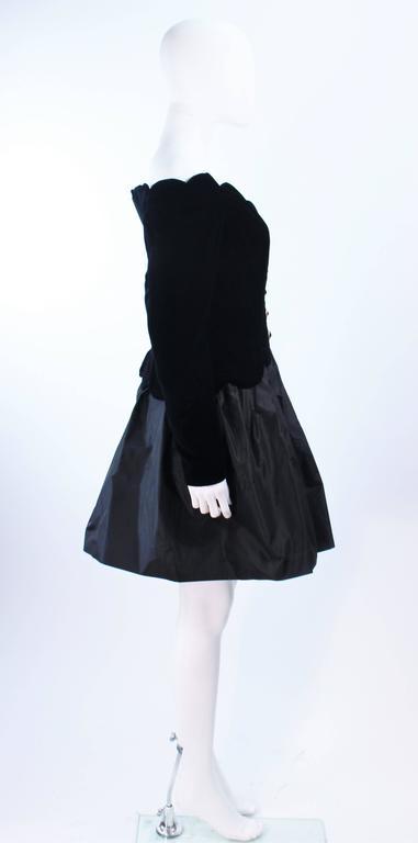 BELVILLE SASSON Velvet Skirt Evening Ensemble Off Shoulder Scallop Size 10 6