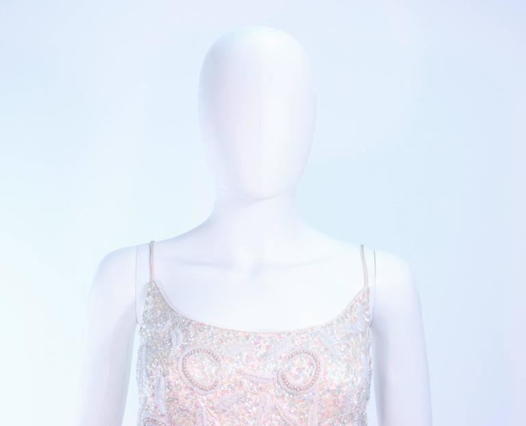 SWEE LO HAUTE COUTURE INTERNATIONAL Ivory Iridescent Cocktail Dress Size 8 10 5