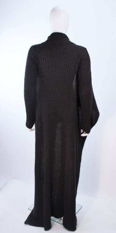 RICK OWENS Brown Knit Draped Sweater Size Small 8