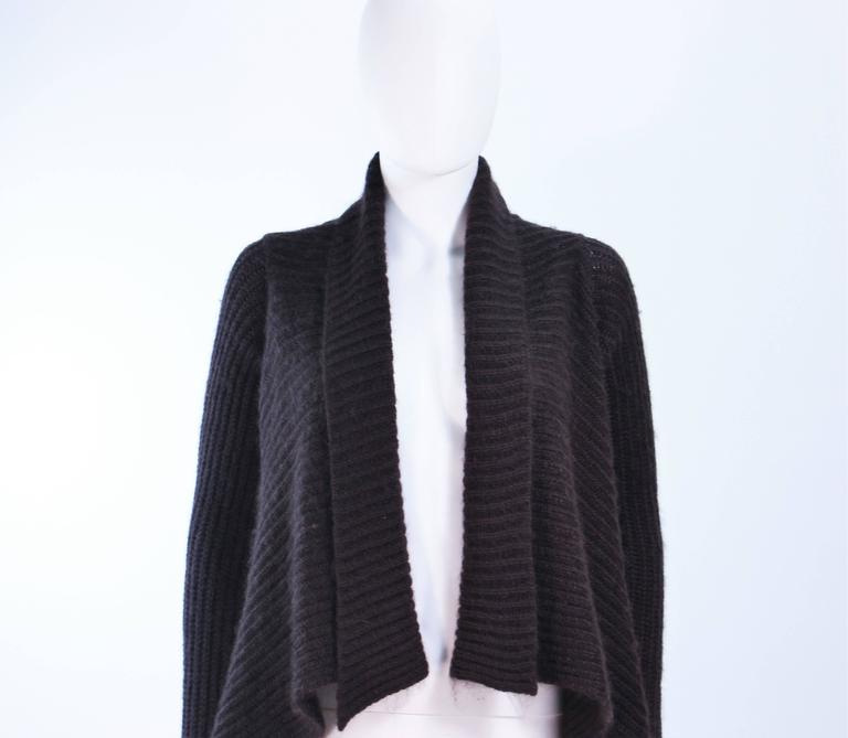 RICK OWENS Brown Knit Draped Sweater Size Small 3